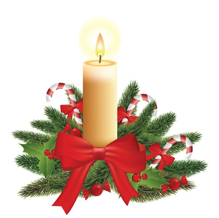 Christmas candle Stock Vector - 16487924