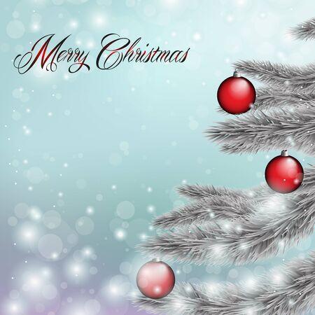 Merry Christmas, card blue Stock Vector - 16487921