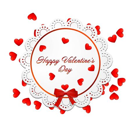 width: Lace width hearts araund for valentines