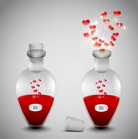 pocion: Poción de amor establecida para San Valentín.