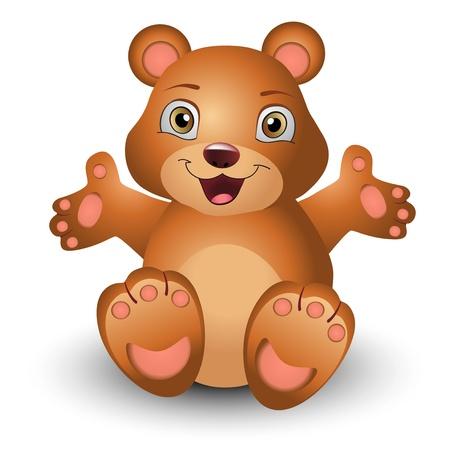 Teddy bear, cartoon caracter  Vector