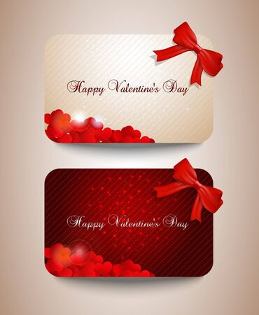 width: Valentines card set width bows