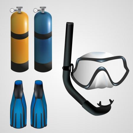 Scuba gear for diving