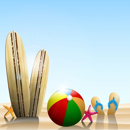 Summer Holidays background width summer elements  Vector