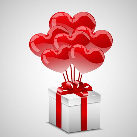 width: Present width heart balloons