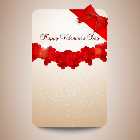 width: Valentines day card width hearts and sparkles  Illustration