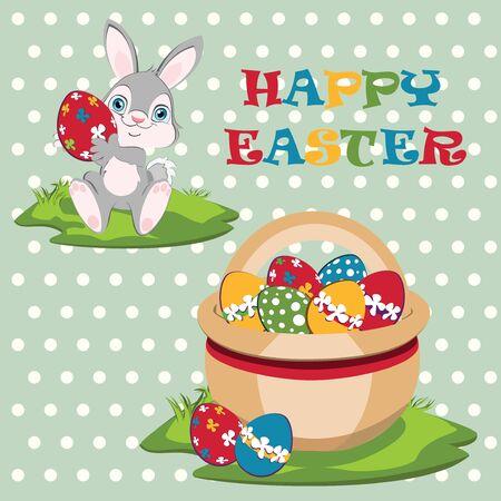 width: Easter bunny width Easter basket.