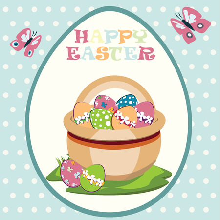 easter basket: Easter basket with Easter eggs