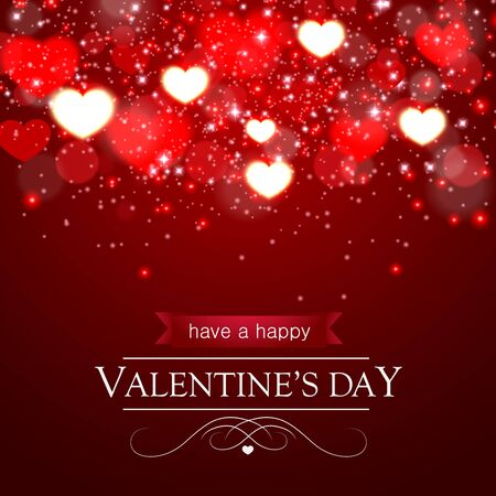 Happy Valentines day greeting card and vector Background