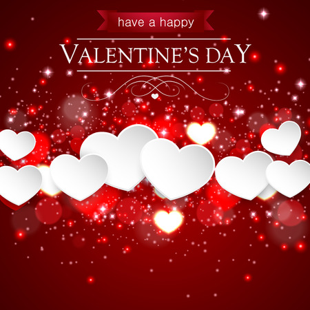 vector greeting card: Happy Valentines Day Background