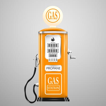 Reg geïsoleerd retro benzinepomp.