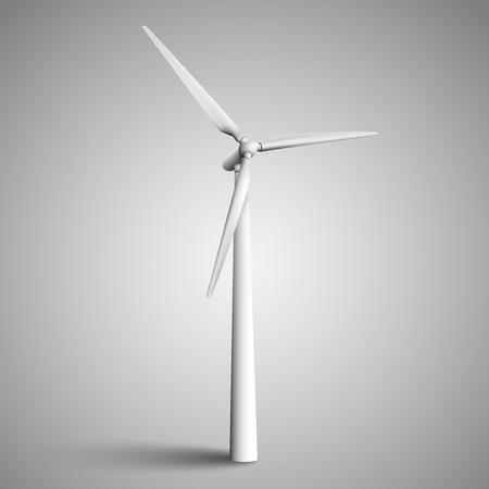 turbine: Isolated wind turbine, vector illustration.