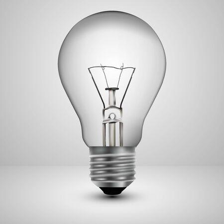 gray bulb: Light bulb on a gray background, vector illustration.