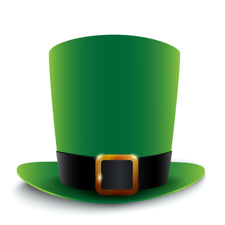 Saint Patricks day green hat, illustration. Illustration