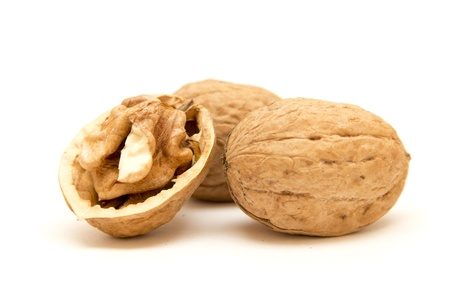 The large walnuts in shell and peeled