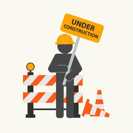 Under construction concept, vector illustration Illustration