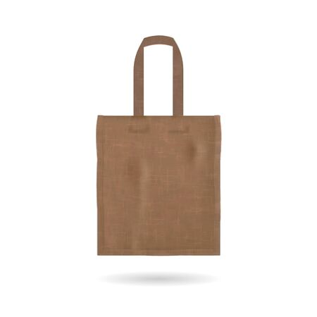 Blank tote bag template isolated Illustration