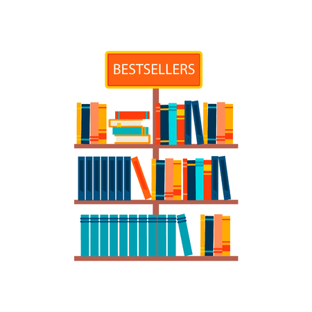 Bestsellers sign in bookstore