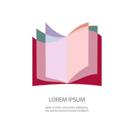 Open book pages logotype Illustration