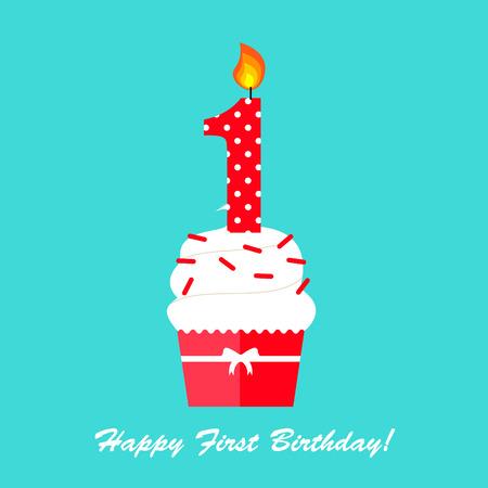 Gelukkige eerste verjaardagskaartkaart