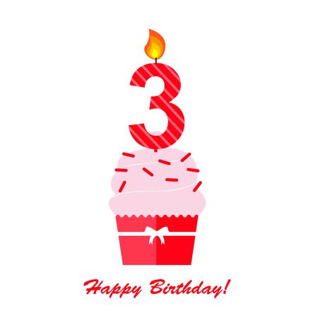 third birthday: Happy Third Birthday Anniversary card
