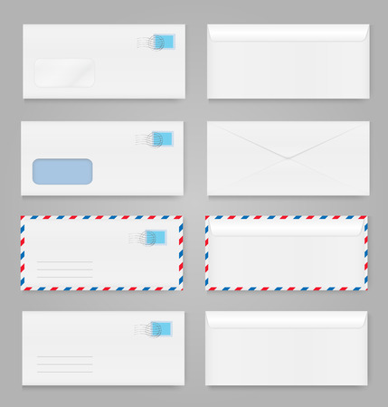 Blank envelopes set Ilustrace
