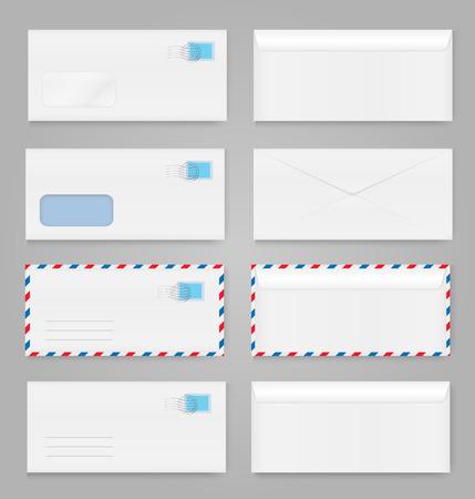 Blank envelopes set Illustration