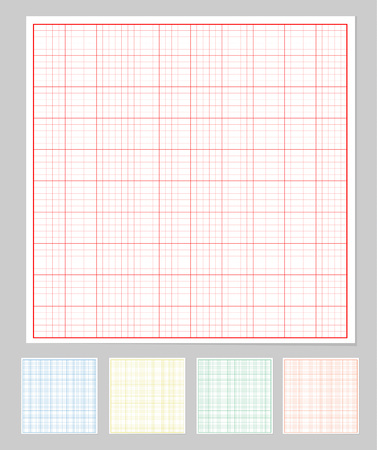 Graph paper set Ilustrace