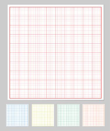 Graph paper set Illustration