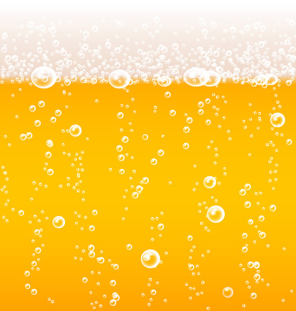 Beer texture with bubbles and foam Illustration
