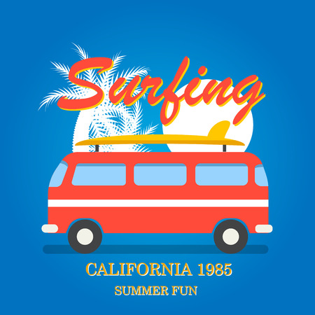 California surfing typography