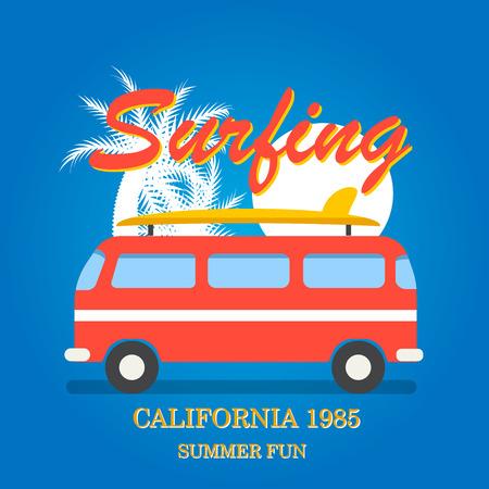 California surfing typography