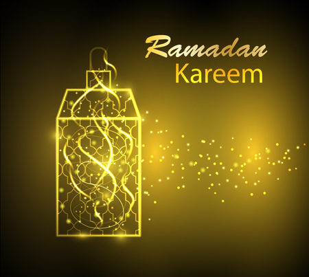 Background with shining arabic lamp  for Ramadan Kareem