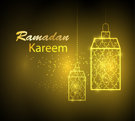 Greeting card design for Ramadan Kareem