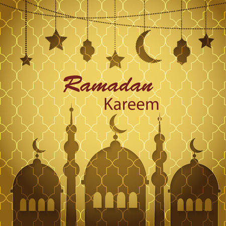 Ramadan Kareem greetings background Ilustrace
