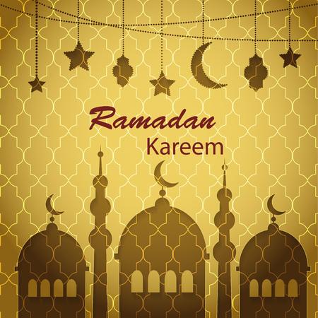 Ramadan Kareem greetings background Illustration
