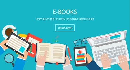 E-books concept Illustration