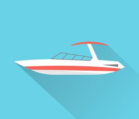 Motorboat icon isolated,  illustration