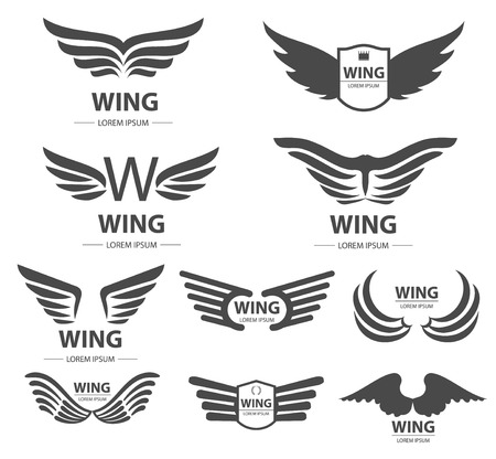 Wings  set  illustration Illustration
