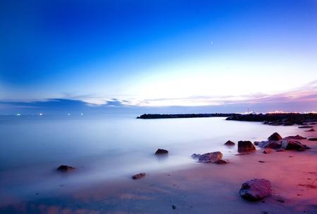 beach sunset: sunset at Thailand Stock Photo