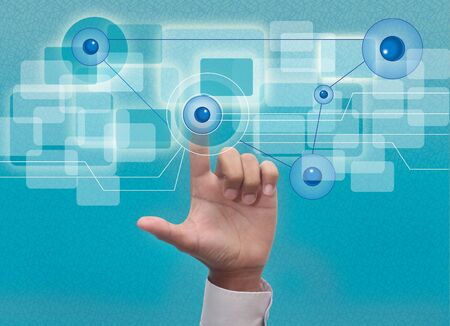 hand reaching images streaming from the deep Stock Photo - 20890331