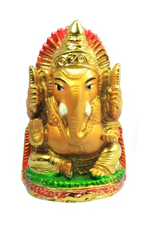 Statuette of Ganesha isolated on a white background photo