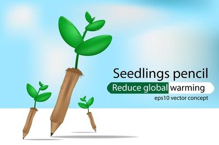 Pencil seedlings Stock Vector - 21521334