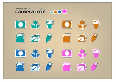 Camera Function Icons  Vector