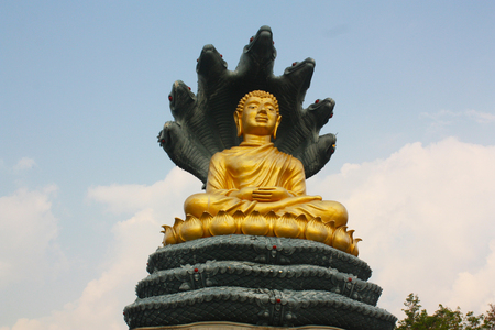 Golden Buddha Statue at rayong in thailand
