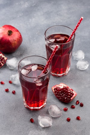 Natural Fresh and Organic Pomegranate Juice in Glass