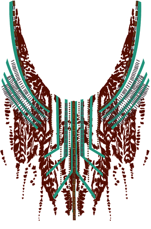 Ethnic Neck Embroidery