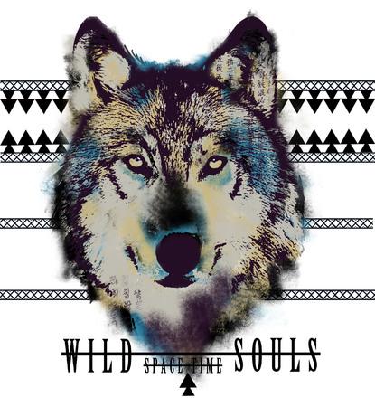 wolf face: Wolf Illustration