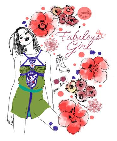 girl sketch: Fashion Girl Sketch