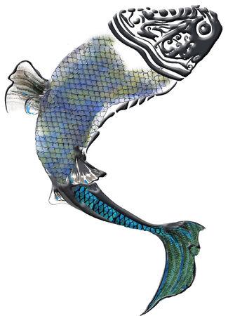 pez abstracto: resumen de pescado, pescados, animal, textura Vectores